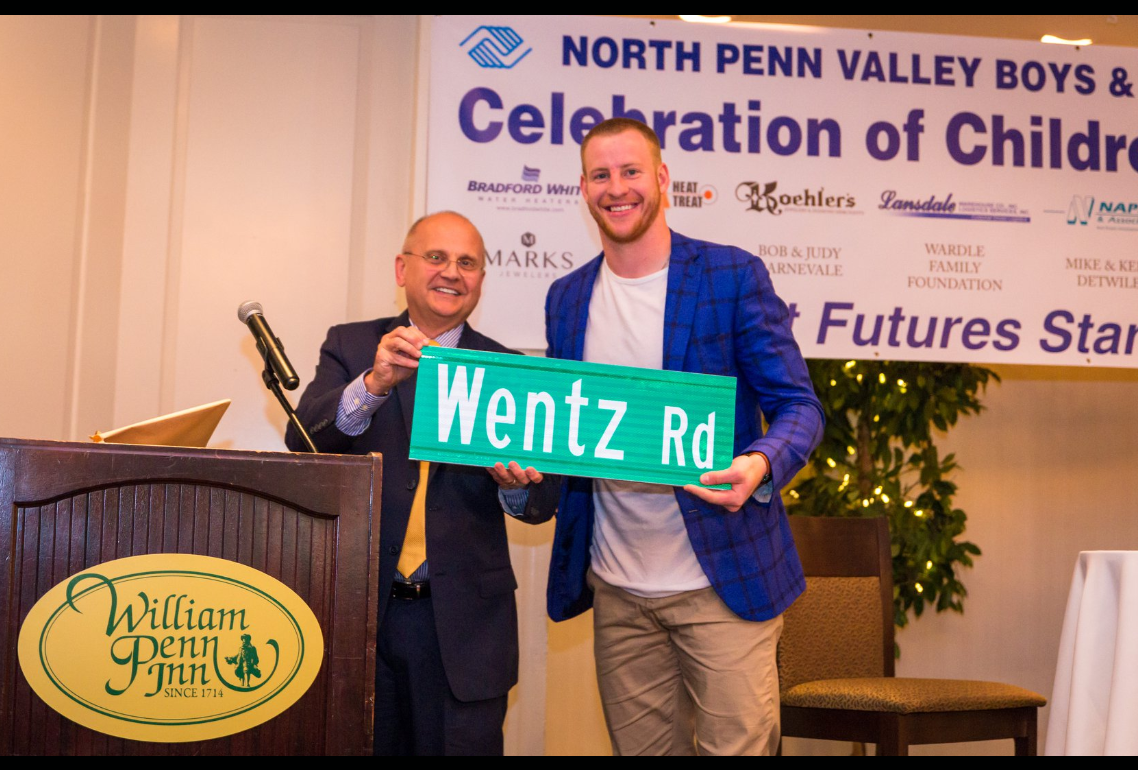 Carson Wentz Rd Sign Dedication