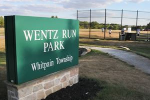 Wentz Run Park Whitpain Township sign