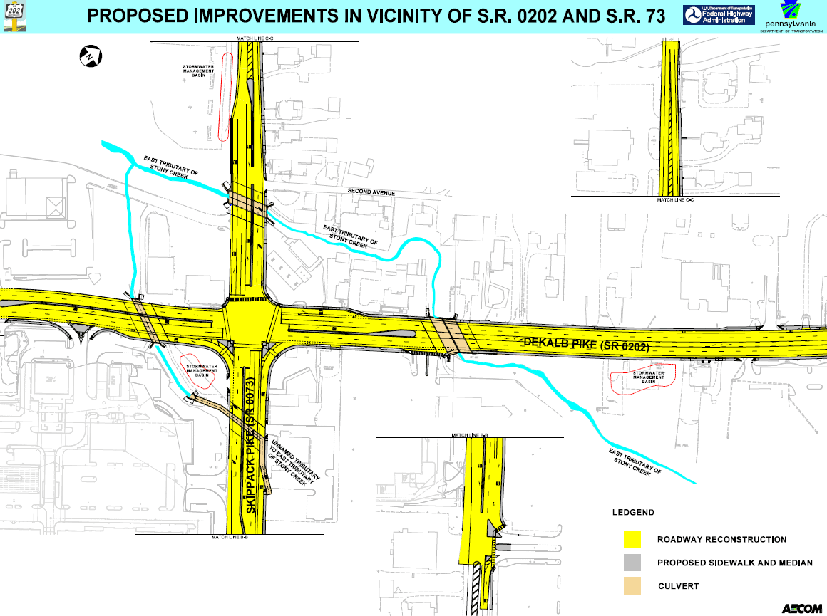 Us 202 Widening Project Whitpain Township Pa - Us-map-pa